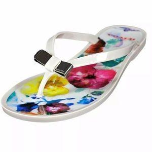 Coach Landon Floral Watercolor Jelly flip flops